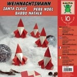 Комплект за оригами, Дядо Коледа, 30 x 30 cm, 120 g/m2, 10 листа