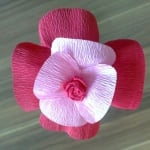 Креативен комплект за направата на цветя от хартия Les fleurs en papier, «Sunny Poppy»