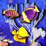 Креативен комплект жива картина 3D «Golden beach»