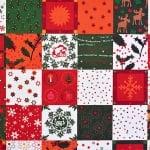Варио картон, 300 g/m2, 50 x 70 cm, 1л, коледен квадрати зелен