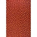 Варио картон, 300 g/m2, 50 x 70 cm, 1л, коледни звезди червен