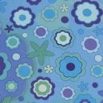 Варио картон, 300 g/m2, 50 x 70 cm, 1л, син на цветя