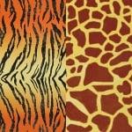 Варио картон, 300 g/m2, 50 x 70 cm, 1л, тигър и жираф/зебра и леопард