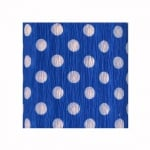 Креп хартия, 35 g/m2, 50 x 250 cm, 1 ролка, бял/ син