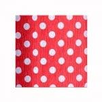 Креп хартия, 35 g/m2, 50 x 250 cm, 1 ролка, бял/ червен