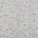 Хартия ръчна памучна, 50 g/m2, 50 x 70 cm, 1 л., бял с флорални мотиви