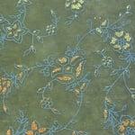 Хартия ръчна памучна, 50 g/m2, 50x70cm, 1 л., маслина с релефни растения