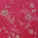 Хартия ръчна памучна, 50 g/m2, 50x70cm, 1 л., червен с релефни растения