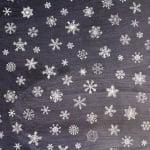 Варио картон, 300 g/m2, 50 x 70 cm, 1л, Снежинки на черен фон